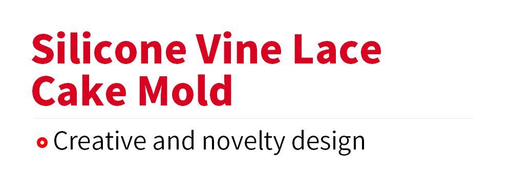 Creative Silicone Vine Lace Fondant Cake Decoration Mold