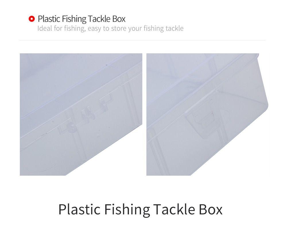 Medium Sized Transparent Plastic Fishing Tackle Storage Box