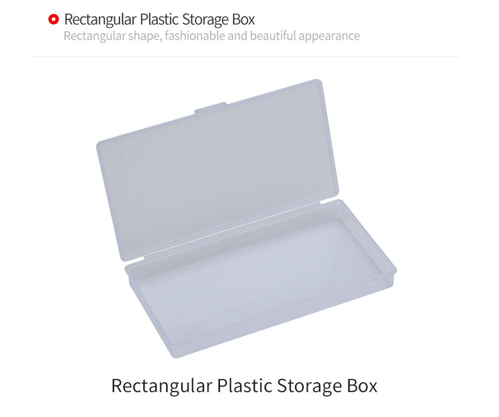 Rectangular Transparent Plastic Jewelry Bead Hardware Storage Box