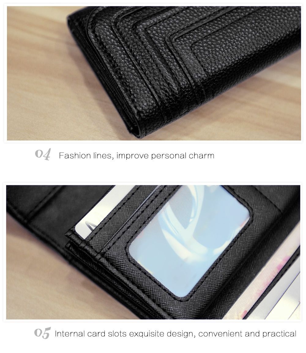 Magnetic Buckle Design Detachable Cell Phone Envelope Clutch Wallet for Women