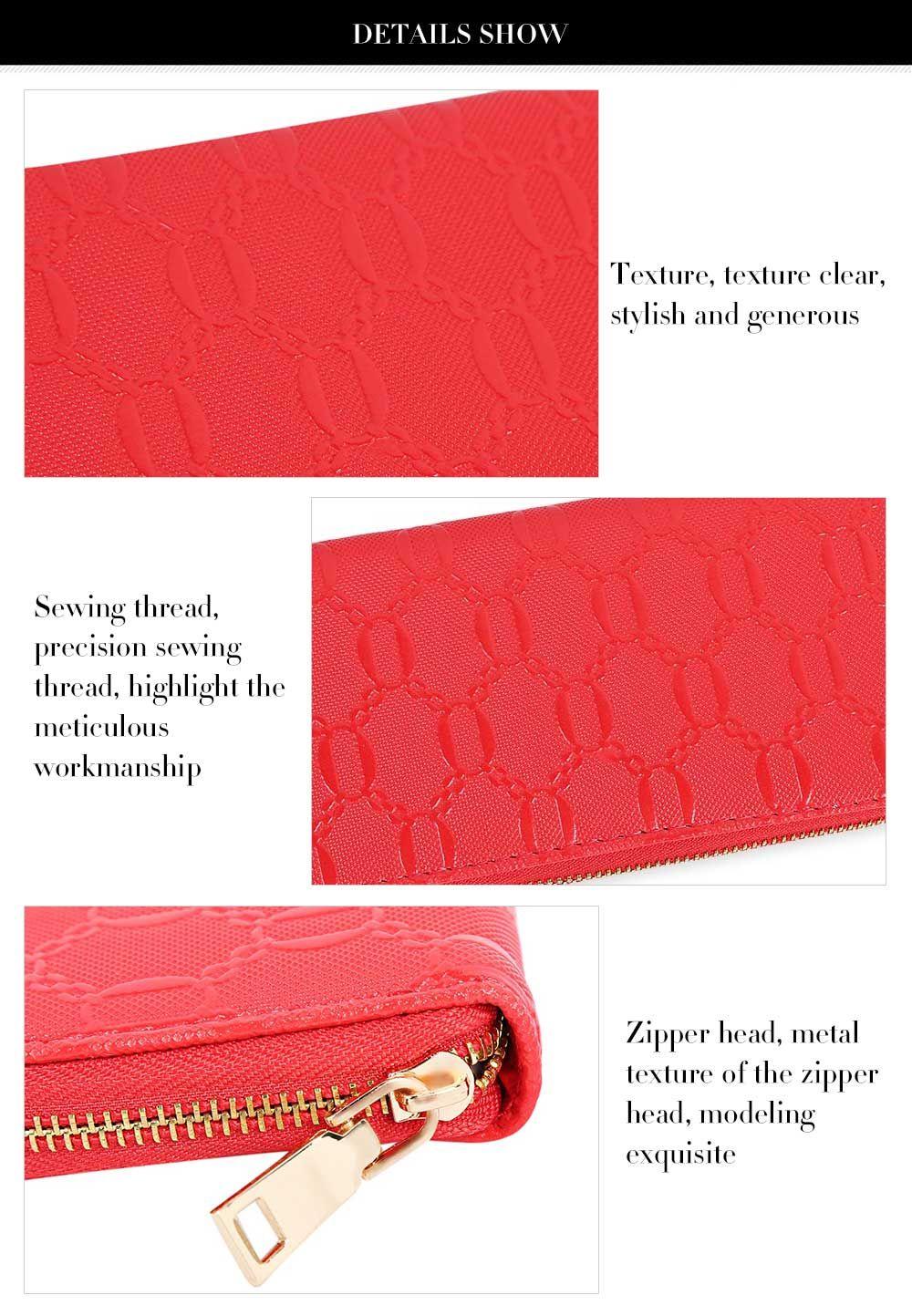Guapabien Fashion Geometric Patterns Square Cross-section Large Capacity Women Clutch Wallet