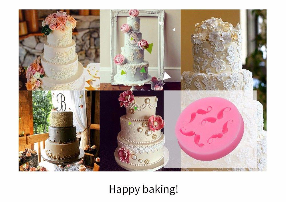 DIY Mustache Pattern Cake Fondant Baking Tool Decorating Mould