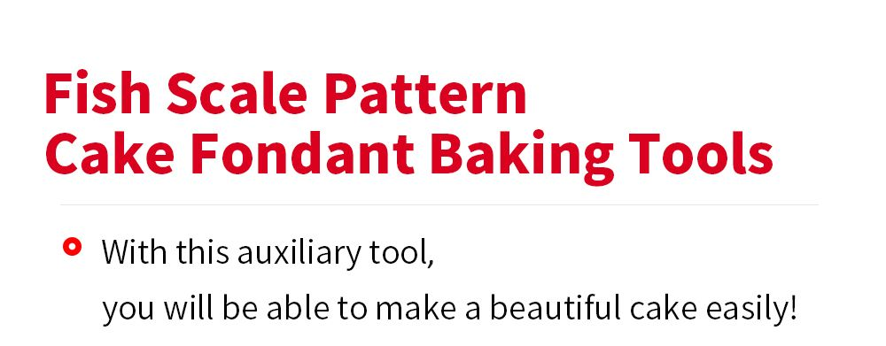 DIY Fish Scale Pattern Cake Fondant Baking Kit Decorating Tool