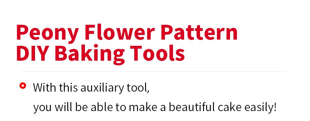 Peony Flower Pattern Cake Fondant Baking Tool Paste Mold