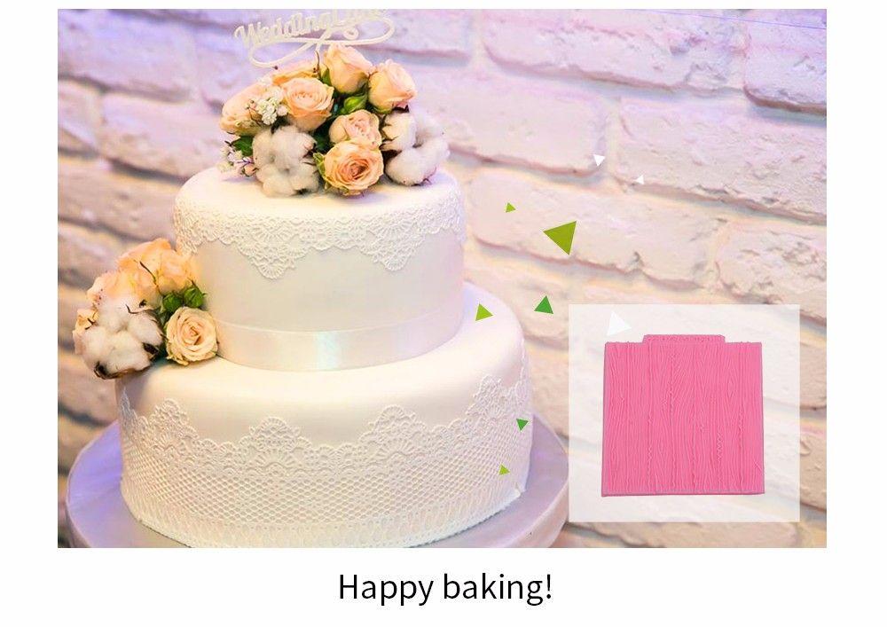 DIY Bark Pattern Cake Fondant Baking Kit Paste Decorating Tool