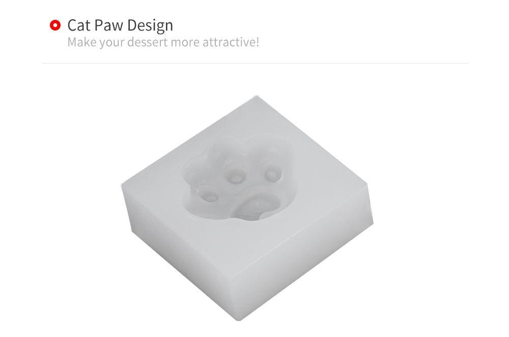 DIY Cat Paw Pattern Cake Fondant Baking Tool Decorating Mold
