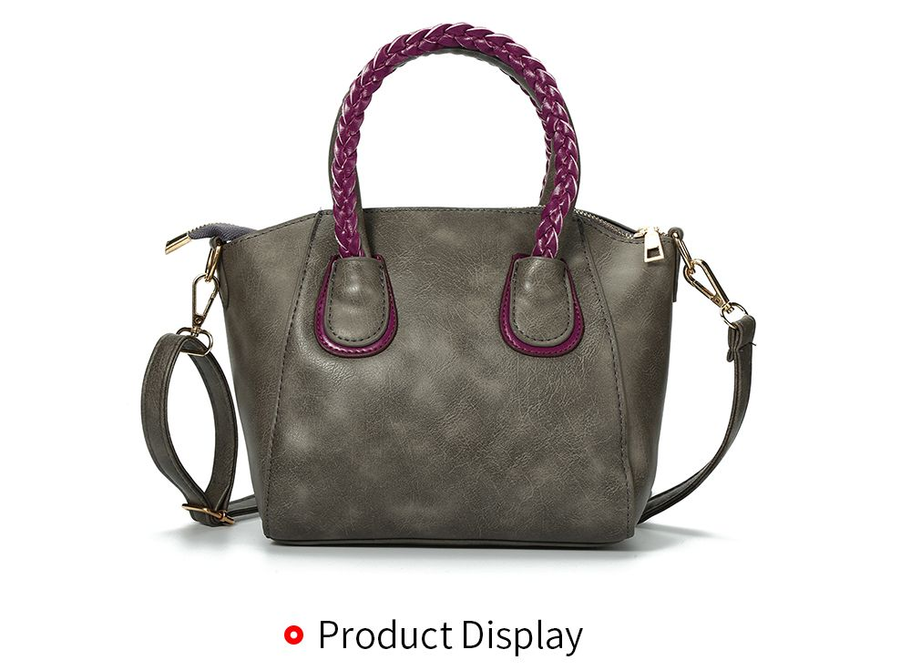 Trendy Twisted Wire Embellished Women PU Tote Bag