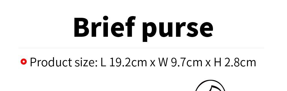 Brief PU Leather Women Purse
