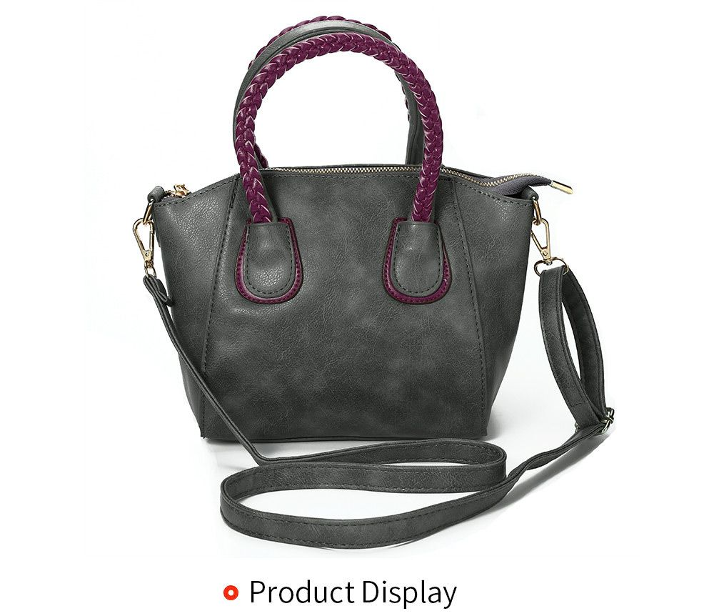 Guapabien Trendy Twisted Wire Embellished Women PU Tote Bag