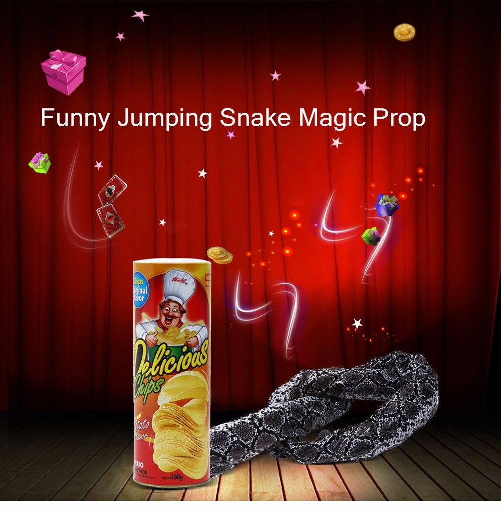 Potato Chip Jumping Snake Magic Prop