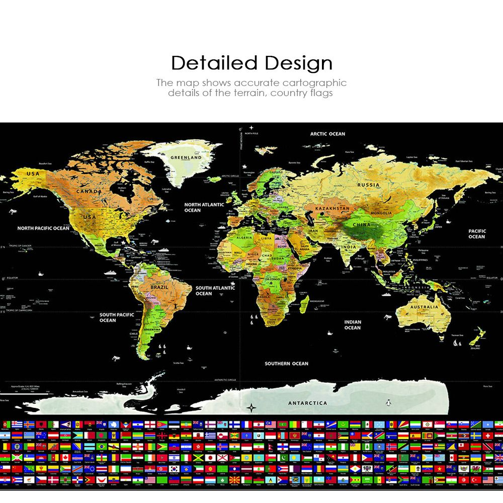 Colormix scratch off world map with us states and country flags scratch off world map with us states and country flags interior decoration perfect gifts for gumiabroncs Choice Image