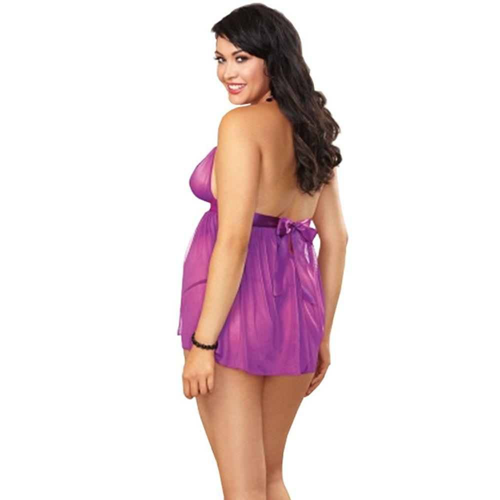 2c936073980 Women Hot See-Through Lace Sexy Sleepsuit PLUS Size Big Size Sleepsuit  Grenadine Babydoll Lingeries