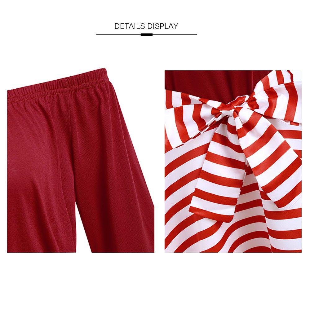 8be6b211a4b 26% OFF  Plus Size Christmas Party Stripe Knee Length Dress