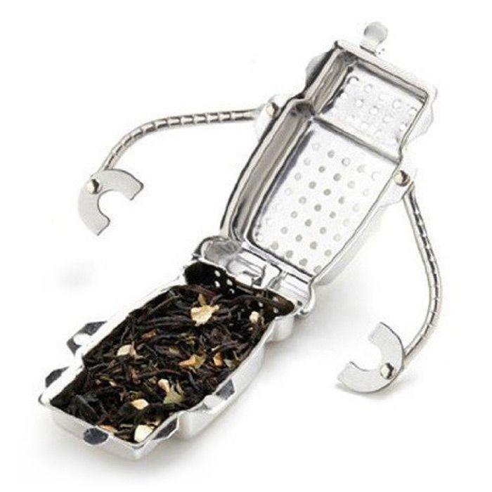 Stainless Steel Robot Shape Tea Filter Creative Teabags Strainer