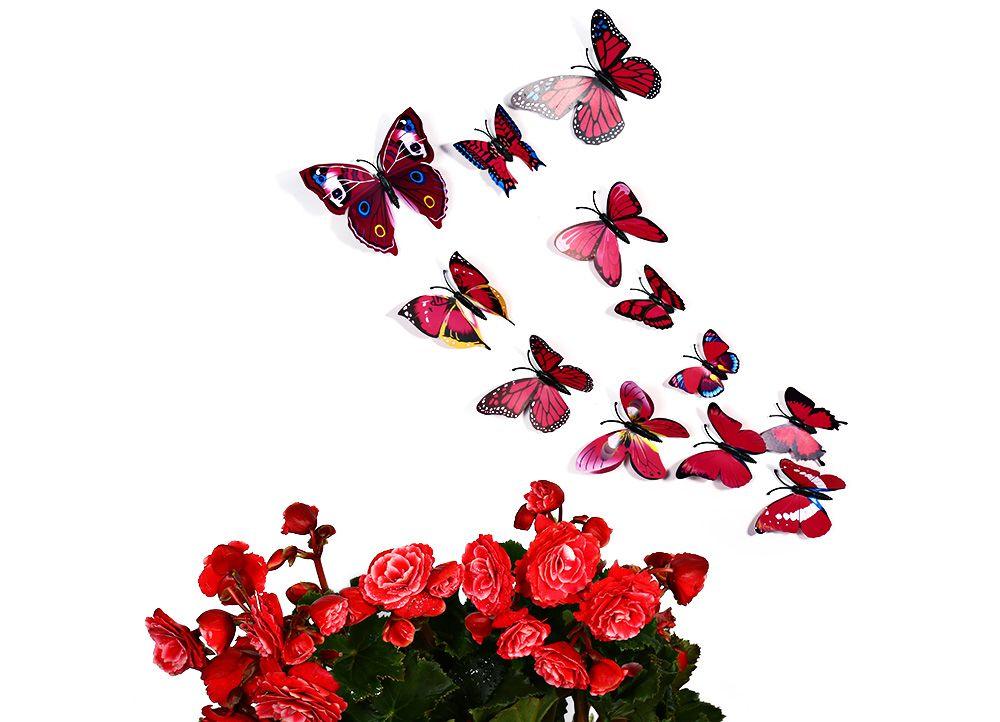 12 pcs 3D Butterfly Wall Stickers Art Decor Decals