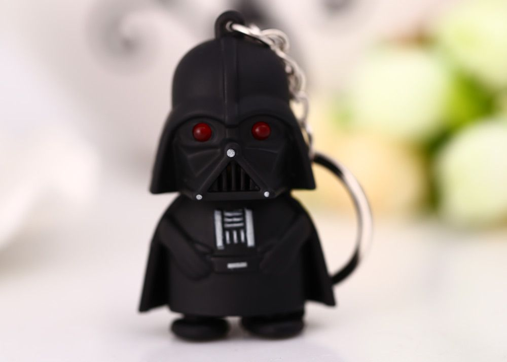 Darth Vader Style Key Ring Voice Light Control Bulk Keychain