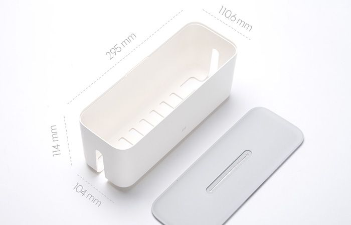 Original Xiaomi Mi Storage Box Dustproof Cable Line Receive Case