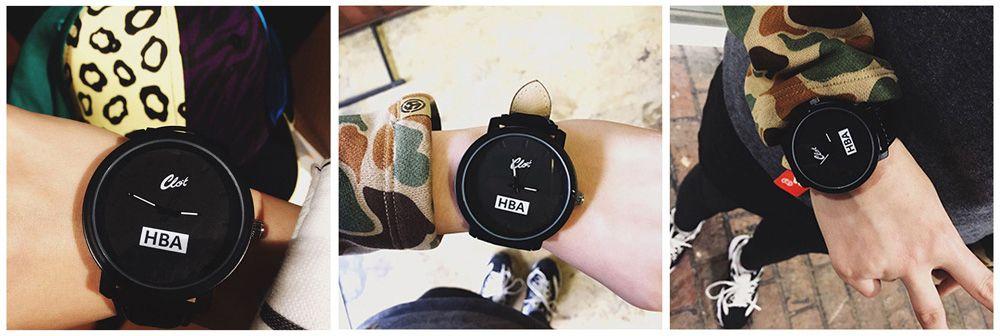 Clot Fashionable Male Big Dial Quartz Watch
