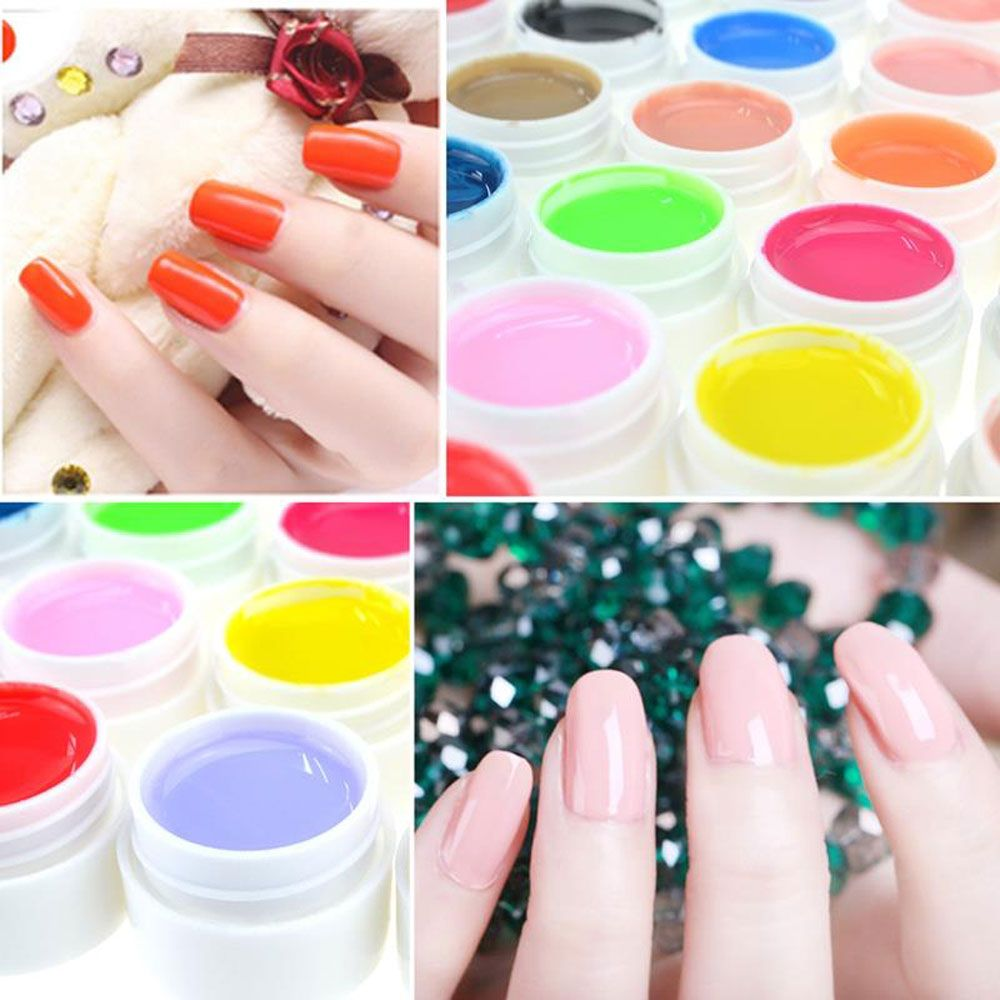 36 Pure Color UV Gel Nail Art DIY Decoration for Nail Manicure Gel Nail Polish Extension