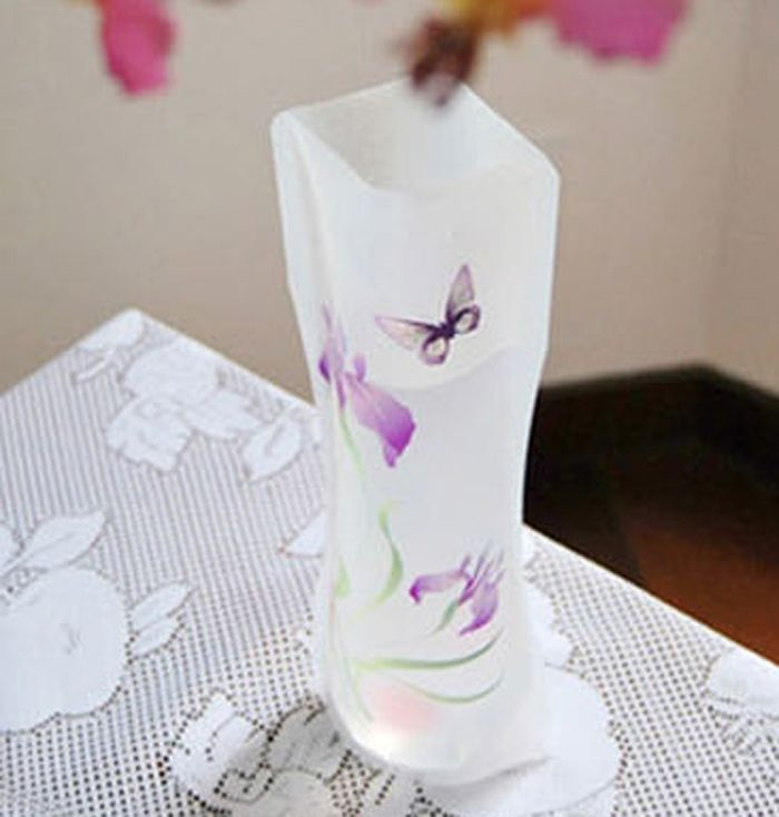 DIY Foldable PVC Vase Home Decoration Flowers Jardiniere