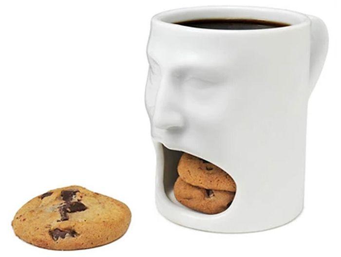 Creative Face Style Ceramic Biscuit Mug Decorative Cookie Cup for Milk Dessert