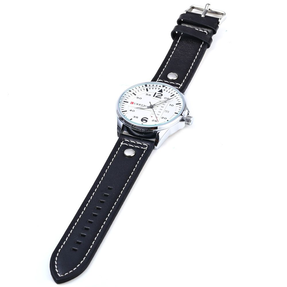 Curren 8224 Men Quartz Watch with Day Date Display