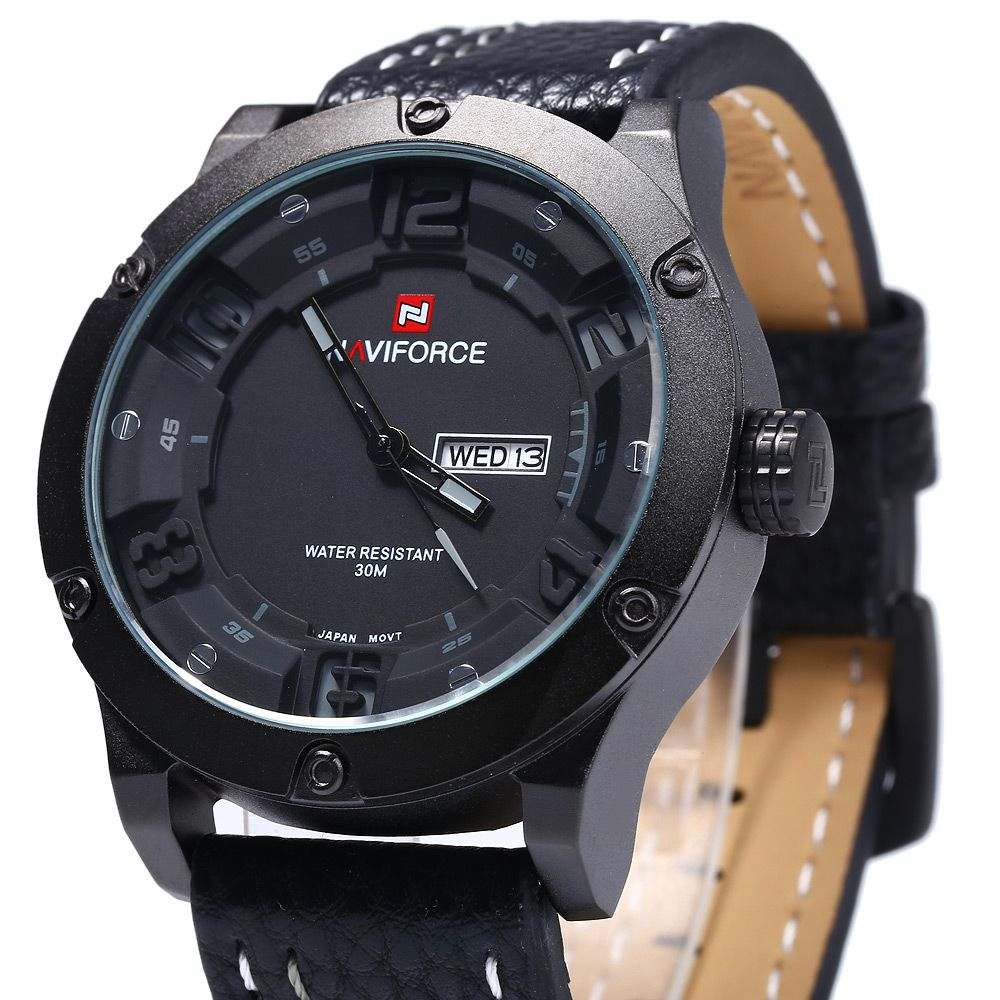 Naviforce 9070 Men Quartz Watch with Day Date Function