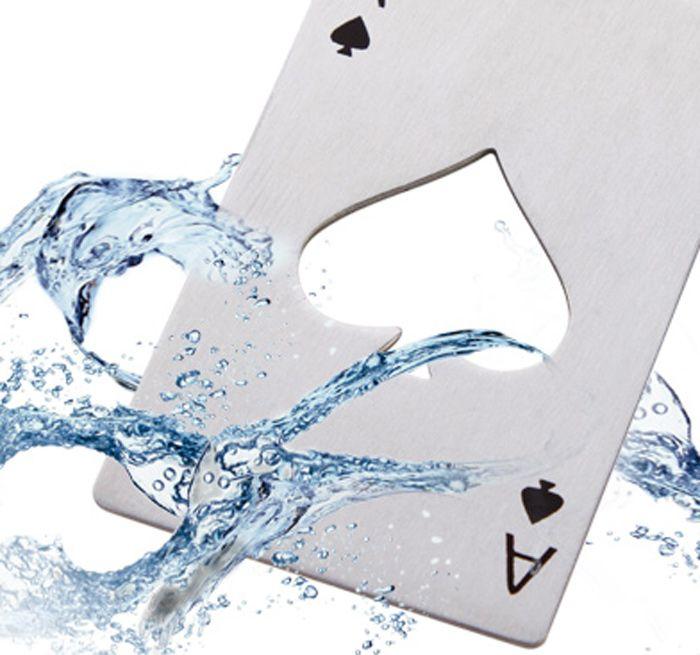 Creative Spades Ace Shape Bottle Opener Stainless Steel Poker Card Elegant Gift