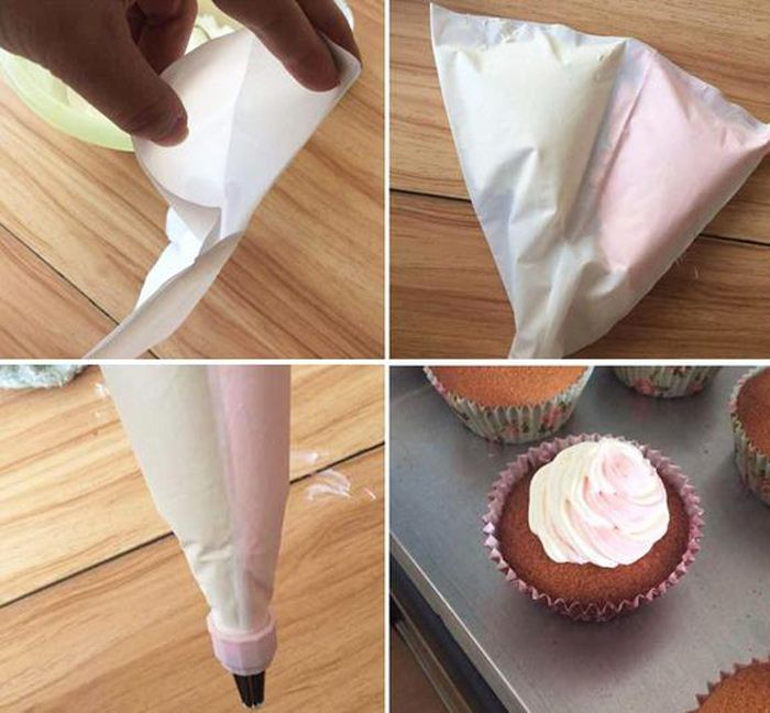 White Pastry Cake Piping Bag Set Decorating Cream Tool ...