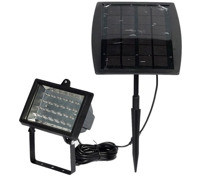 CIS-57602 Solar Powered 28 LED Spotlight Water Resistant Projection Lamp for Pool Pond Garden Path RoadLighting