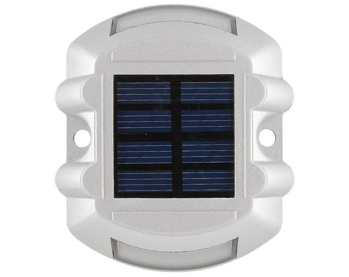 CIS-57653 Aluminum 6 LED Solar Power Dock Ground Light Garden Lamp for Outdoor Road Driveway