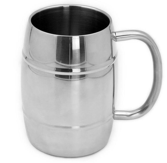 Drum Shape Stainless Steel Coffee Mug 300ml Practical Water Cup