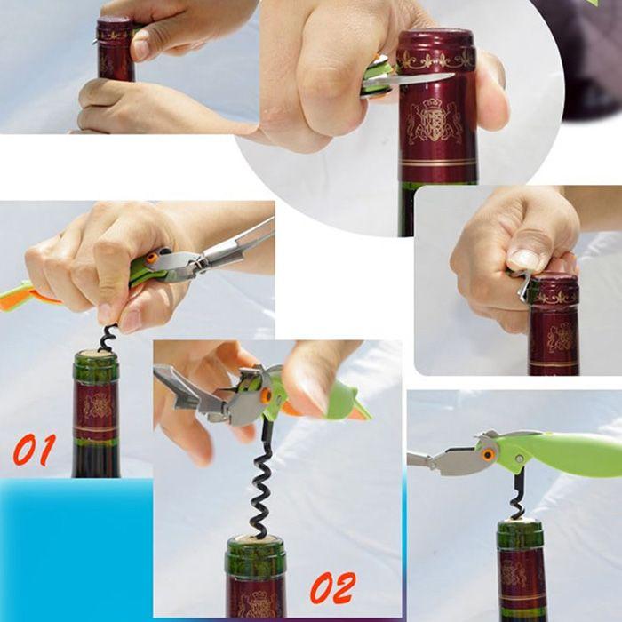 Parrot Shape Stainless Steel Bottle Opener Corkscrew Opening Tool