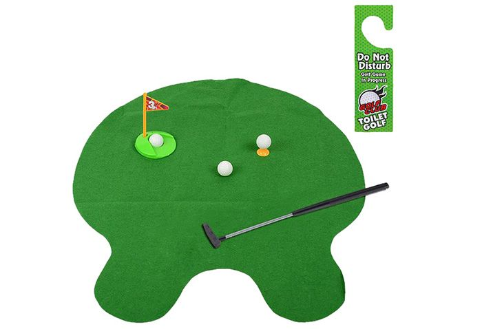 Potty Putter Toilet Golf Game Indoor Fun Game Interesting Time