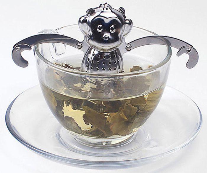 Stainless Steel Monkey Shape Tea Filter Creative Teabags Strainer