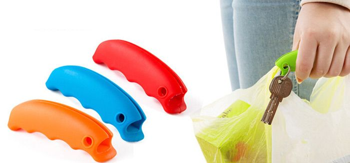 Silicone Shopping Bag Lifting Tool Multi-functional Food Handy Hook