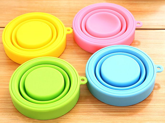 Silicone Mini Flexible Cup Portable Folding Bottle for Travel Outdoor Trip