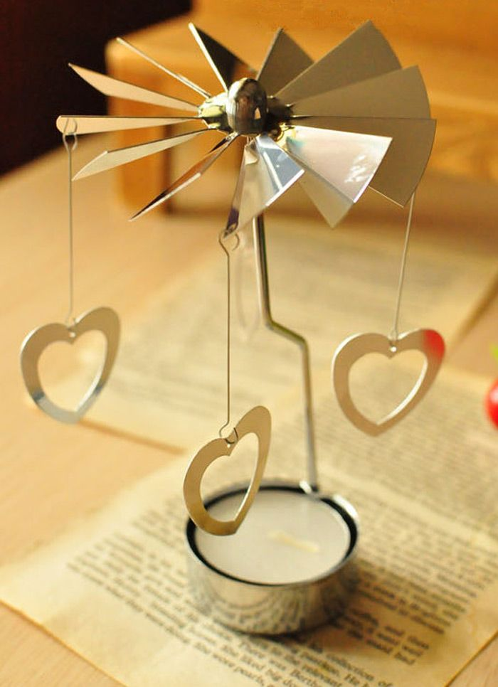 European Retro Rotating Windmill Style Candle Holder Valentine's Day Decorative Candlestick