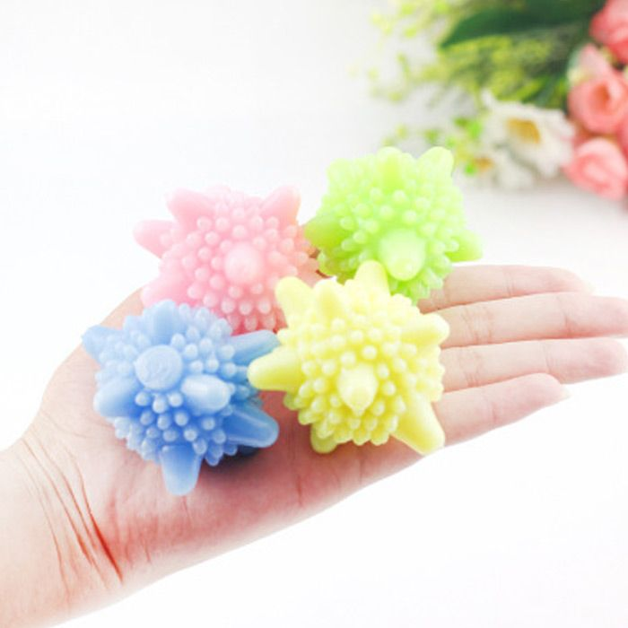 4PCS Magic Plastic Washing Ball Strong Decontamination Cleaning Tool