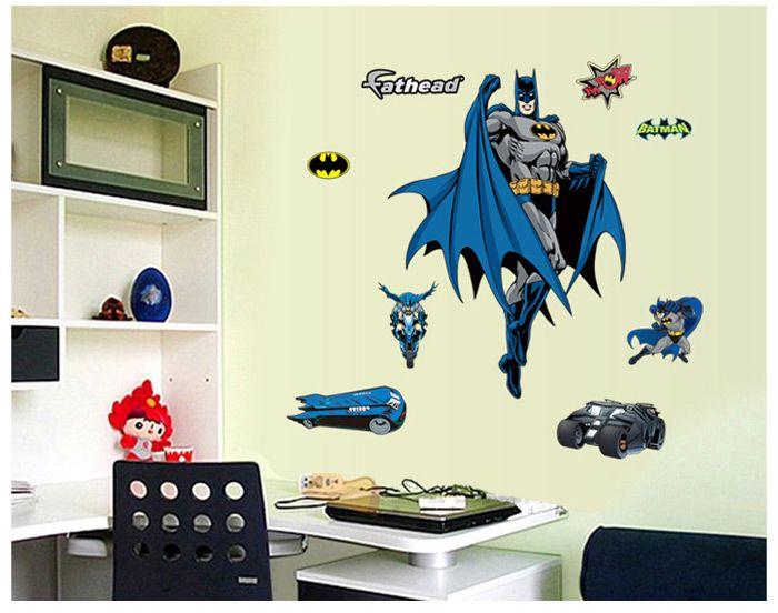 Creative Batman Shaped Wall Sticker Removable Wallpaper Home Art Decals