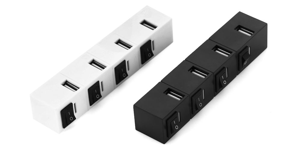 4-Port USB Charger Hub with LED Indicator