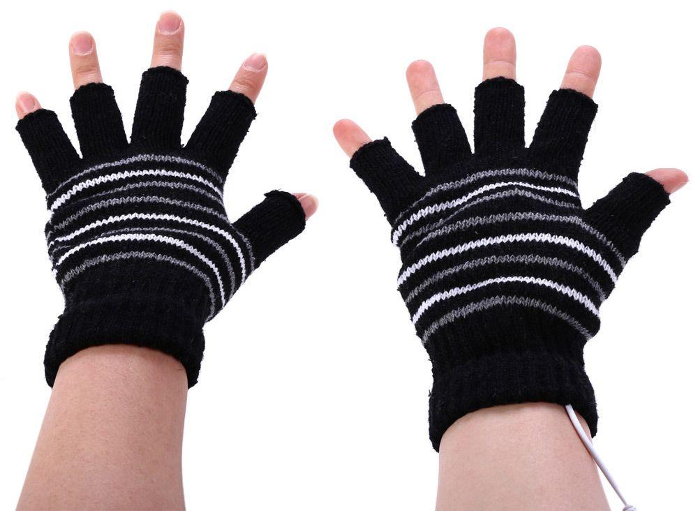 USB Heated Fingerless Glove Unisex Warm Items