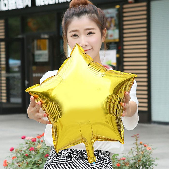 18 inch Auto-Seal Five-pointed Star Foil Balloon Reuse Party / Wedding Decor Inflatable Gift for Children