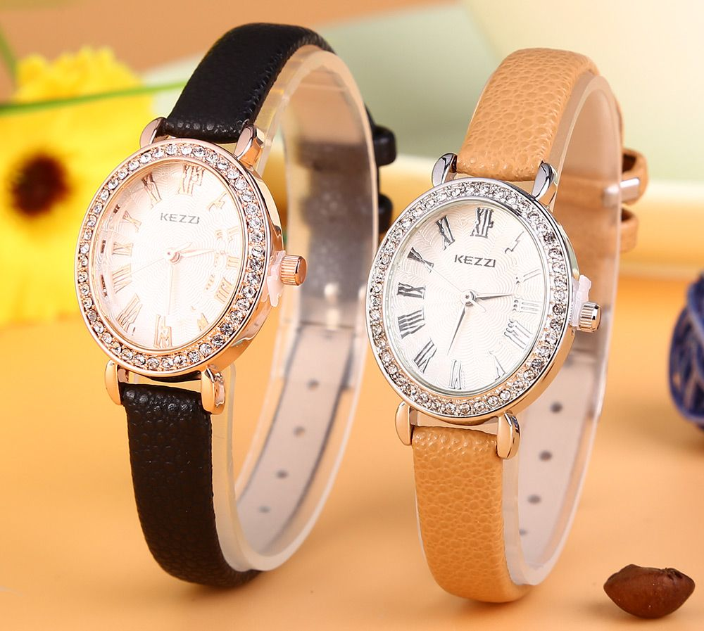 KEZZI K - 873 Women Quartz Watch Artificial Diamond Wristwatch