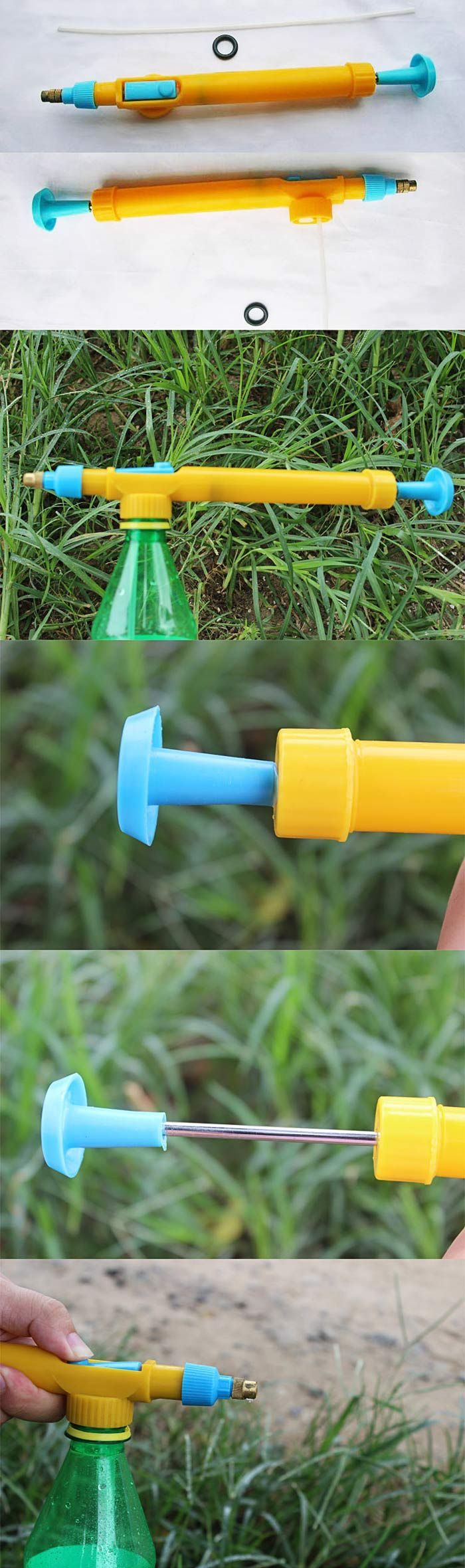 Plastic Pressure Type Water Spraying Sprayer Head Beverage Bottle Nozzle Garden Accessory