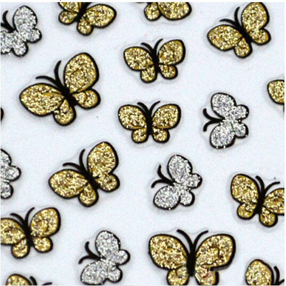 Fashion 3D DIY Butterfly Nail Art Shinning Stickers
