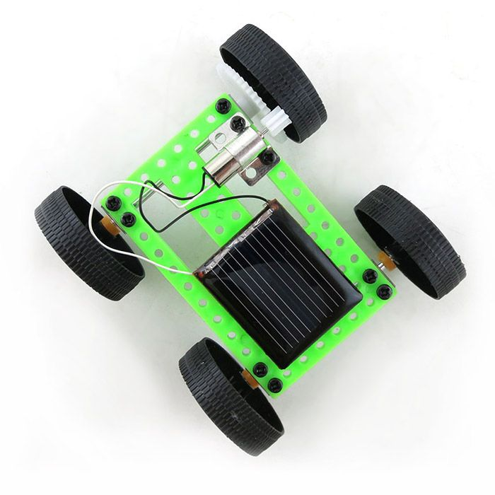 DIY Solar Car Mini No.2 Model Assemble Toy Educational Novel Gift