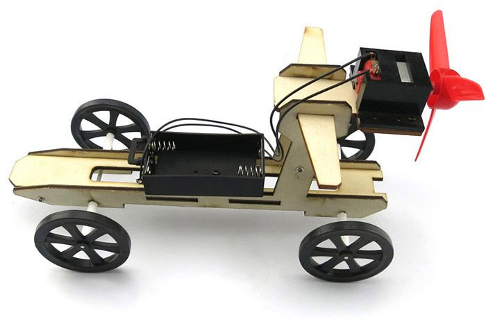 DIY Wind Car 003 Assemble Battery Operated Educational Toy