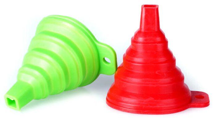 Mini Stretch Silicone Funnel Leak Pop-up Hopper Infundibulum
