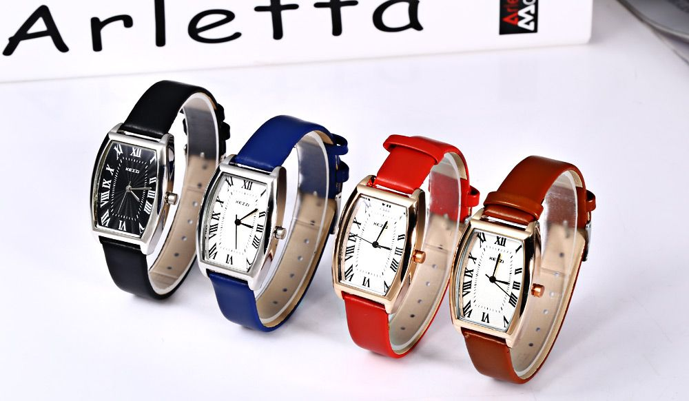 KEZZI K - 773 Women Quartz Watch Elliptical Dial Roman Numbers Wristwatch